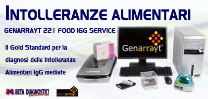 Genarrayt 221 Food IgG Service - Beta Diagnostici